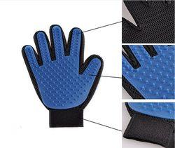 Al1 Рукавица для чистки шерсти у животных синяя