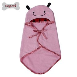 """Al1 Полотенце для собак """"Божья коровка"""", розовое размер М"""