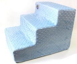 LuxDog Лестница для собак Туман(голубая), плюш, 2 размера