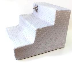 LuxDog Лестница для собак Дымка(серый), плюш, 2 размера
