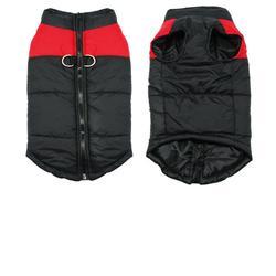 Al1 Куртка для больших собак, черно/красная, размер 4XL, 5XL