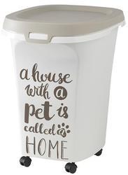 Moderna Контейнер для корма передвижной Pet Wisdom 46x37x51h см, серый, 38 л