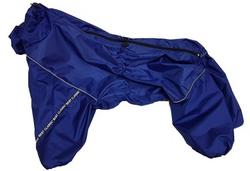 LifeDog Дождевик для больших пород собак, синий, размер 4XL, спина 55см