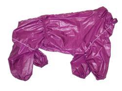LifeDog Дождевик для больших пород собак, сливовый, размер 5XL, спина 60см