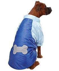 АНТ Куртка для крупных собак, синяя Косточка, размер L, флис