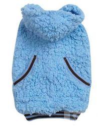 АНТ Попона-толстовка для собак, мех, голубая, размер L