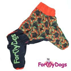 ForMyDogs Комбинезон для крупных собак черно/оранжевый, модель для мальчиков, размер С3, D2