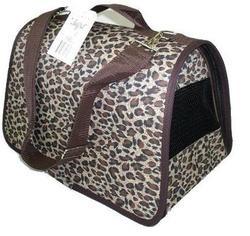DOGMAN Сумка -переноска для собак Лира №2М, меховая, леопард