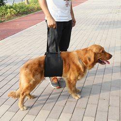 Al1 Шлейка для травмированных и пожилых собак черная, размер М, L