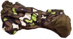 SportDog Комбинезон для таксы, теплый, на меху, камуфляж/хаки, модель для мальчиков