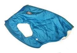 SportDog Куртка-попона меховая для французского бульдога, бирюза, спина 40см