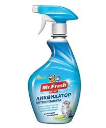 Mr.Fresh Expert 3 в1 ликвидатор пятен и запаха для кошек 500мл.