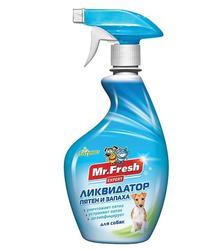 Mr.Fresh Expert 3 в1 ликвидатор пятен и запаха для собак 500мл.