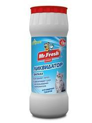 Mr.Fresh Expert 2 в1 ликвидатор пятен и запаха для кошек 500г порошок