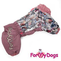 ForMyDogs Комбинезон для больших собак сиреневый Зима, модель для девочек, размер С3