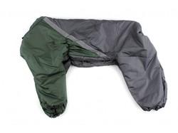 ZooPrestige Комбинезон утепленный, Боксер, хаки/серый, размер 5XL, спина 60см