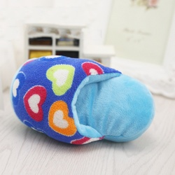Al1 Игрушка для собак мягкая Тапок голубой 11-14см