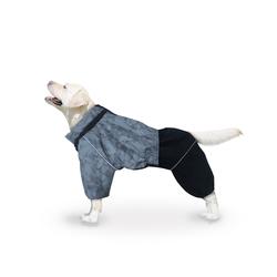 ZooTrend Комбинезон для средних и больших пород собак, размер 4XL, серый/черный, спина 55см