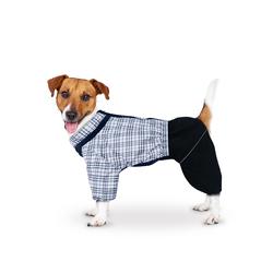 ZooTrend Комбинезон для средних пород собак, шотландка беж/черный, размер 3XL, спина 47см