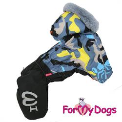 ForMyDogs Комбинезон для собак Камуфляж черно/серый, модель для мальчиков, размер 10