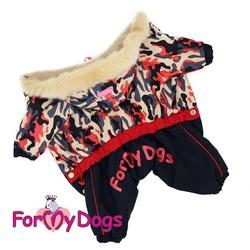 ForMyDogs Комбинезон для собак Камуфляж беж/синий, размер №18, №20, модель для девочек