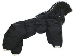 ZooAvtoritet Комбинезон для собак Дутик, черный, размер L, спина 32-36см