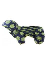 ZooPrestige Комбинезон для собак Дутик, синий с рисунком, размер М, спина 27-31см