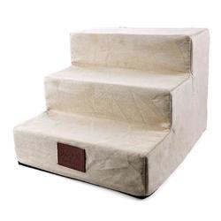 Al1 Лестница - ступеньки для собак, бежевая, 3 ступени, размер 40x38x30 см