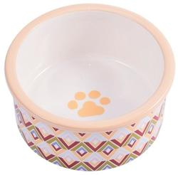 КерамикАрт Миска керамическая для собак 600 мл с орнаментом