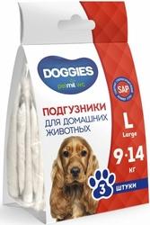 "PetMil Подгузники для животных ""Doggies"", размер L 9-14 кг (3 шт)"