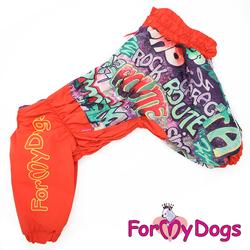 ForMyDogs Дождевик для больших собак, морковный, модель для девочки, размер D2
