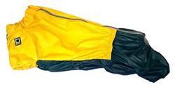 LifeDog Дождевик для большой таксы, желто/зеленый, размер №4, спина 50-52см