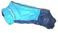 LifeDog Дождевик для большой таксы, серо/голубой, размер №4, спина 50-52см