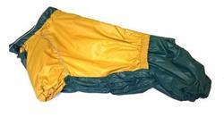 LifeDog Дождевик для французского бульдога, беж/зеленый, спина 40/44см