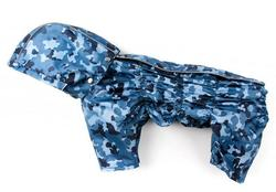 ZooPrestige Дождевик для собак Дутик, синий/камуфляж, размер XL, спина 36-40см