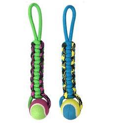 PetPark Игрушка для собак Плетенка с теннисным мячом 6 см