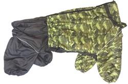 ZooTrend Дождевик для крупных пород собак, милитари/зеленый, размер 7XL, мальчик, спина 80см