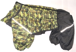 ZooTrend Дождевик для больших пород собак, камуфляж зеленый/милитари, размер 5XL, мальчик, спина 60см