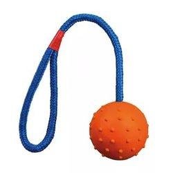 MAJOR Игрушка для собак Мяч на веревке резиновый 6,5см