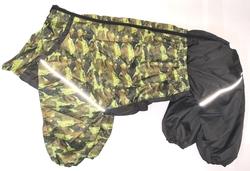 ZooTrend Дождевик для больших пород собак, камуфляж зеленый/милитари, размер 6XL, мальчик, спина 65см