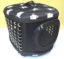 "Al1 Складная сумка-переноска для собак и кошек до 8,0 кг, черная ""Кошки"" L, размер 45х38х32см"