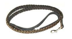 Зоотехнология Поводок кожаный коса 140см