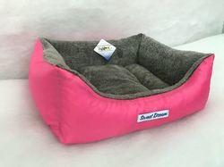 Бобровый дворик Лежак для собак и кошек Сладкий сон Мех, розовый