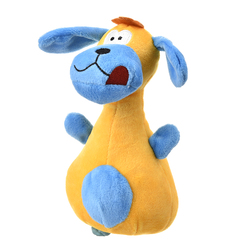 Al1 Игрушка для собак плюшевая Коровка желтая 16см