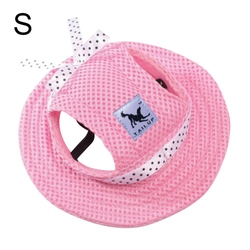 Al1 Панамка для собак розовая, размер S
