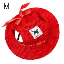 Al1 Панамка для собак красная, размер М