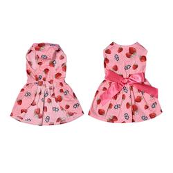 Al1 Платье для собак с принтом Клубника, размер S