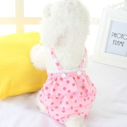 Al1 Трусики из трикотажа для собак девочек, цвет розовый горох, размер S, М