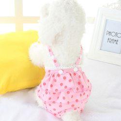 Al1 Трусики из трикотажа для собак девочек, цвет розовый горох, размер S