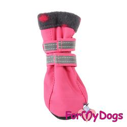 ForMyDogs Сапоги для маленьких собак, розовые, размер №1